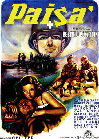 Roberto Rossellini Paisà Movie Poster
